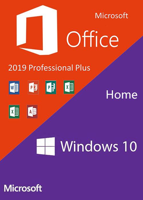 Windows10 Home OEM + Office2019 Professional Plus CD Keys Pack